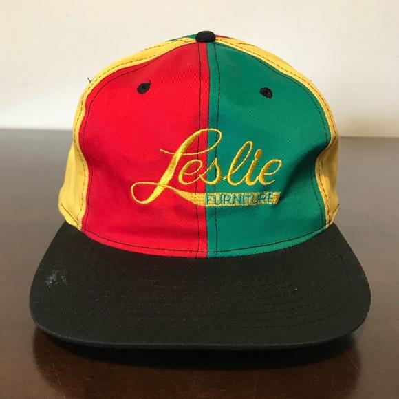 Vintage Leslie Furniture Pinwheel Snapback Hat